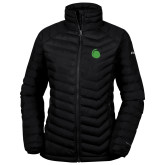 Columbia Lake 22 Ladies Black Jacket-Green Dot