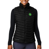 Columbia Lake 22 Ladies Black Vest-Green Dot