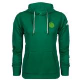 Adidas Climawarm Dark Green Team Issue Hoodie-Green Dot