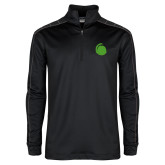 Nike Golf Dri Fit 1/2 Zip Black/Grey Pullover-Green Dot