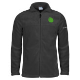 Columbia Full Zip Charcoal Fleece Jacket-Green Dot