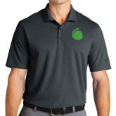 Nike Golf Dri Fit Charcoal Micro Pique Polo-Green Dot