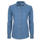 Ladies Denim Long Sleeve Shirt-Alteristic