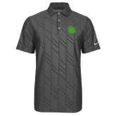 Nike Dri Fit Charcoal Embossed Polo-Green Dot