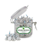 Kissable Creations Small Round Canister-Green Dot