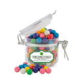 Dubble Bubble Gumballs Small Round Canister-Green Dot