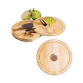 7.5 Inch Brie Circular Cutting Board Set-Green Dot  Engraved