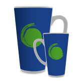 Full Color Latte Mug 17oz-Green Dot