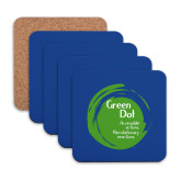 Hardboard Coaster w/Cork Backing 4/set-Tagline Inside