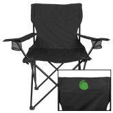 Deluxe Black Captains Chair-Green Dot