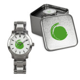 Mens Stainless Steel Fashion Watch-Green Dot
