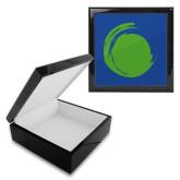 Ebony Black Accessory Box With 6 x 6 Tile-Green Dot