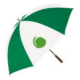 64 Inch Kelly Green/White Umbrella-Green Dot