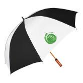 62 Inch Black/White Vented Umbrella-Tagline Inside