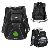 High Sierra Swerve Black Compu Backpack-Green Dot