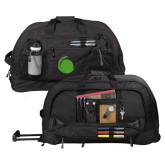 Urban Passage Wheeled Black Duffel-Green Dot