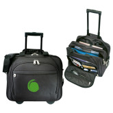 Embassy Plus Rolling Black Compu Brief-Green Dot