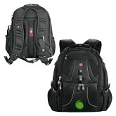 Wenger Swiss Army Mega Black Compu Backpack-Green Dot