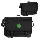 Metro Black Compu Brief-Green Dot