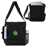 Impact Vertical Black Computer Messenger Bag-Green Dot