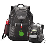 High Sierra Big Wig Black Compu Backpack-Green Dot