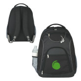 The Ultimate Black Computer Backpack-Green Dot