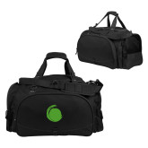 Challenger Team Black Sport Bag-Green Dot