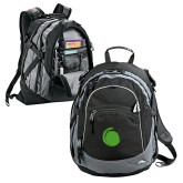 High Sierra Black Titan Day Pack-Green Dot