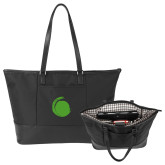 Stella Black Computer Tote-Green Dot