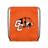 Nylon Orange Drawstring Backpack-Official Logo