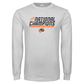 White Long Sleeve T Shirt-Championships