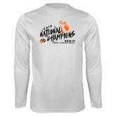 Performance White Longsleeve Shirt-Championships