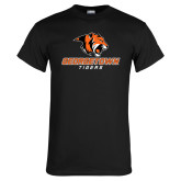 Black T Shirt-Stacked Georgetown Mark