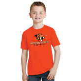 Youth Orange T Shirt-Football