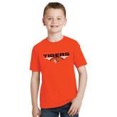 Youth Orange T Shirt-Football Design