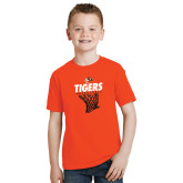 Youth Orange T Shirt-Basketball Design