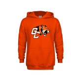 Youth Orange Fleece Hoodie-Official Logo