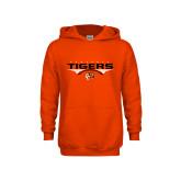 Youth Orange Fleece Hoodie-Football Design