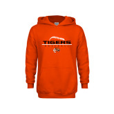 Youth Orange Fleece Hoodie-Baseball Design