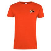 Ladies Orange T Shirt-Official Logo