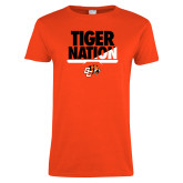 Ladies Orange T Shirt-Tiger Nation