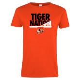 Ladies Orange T Shirt-Tiger Nation