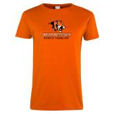 Ladies Orange T Shirt-Acro and Tumbling
