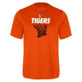Performance Orange Tee-Basketball Design