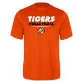 Performance Orange Tee-Volleyball Design