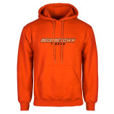 Orange Fleece Hoodie-Stacked Georgetown Mark