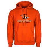 Orange Fleece Hoodie-Basketball