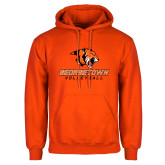 Orange Fleece Hoodie-Volleyball