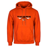 Orange Fleece Hoodie-Football Design