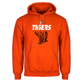 Orange Fleece Hoodie-Basketball Design